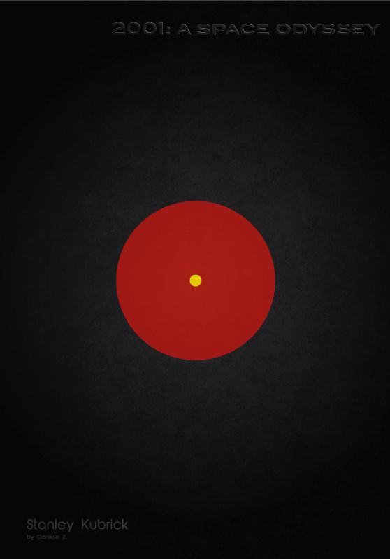 2001 Space Odyssey Minimalist Movie Poster By Daniele