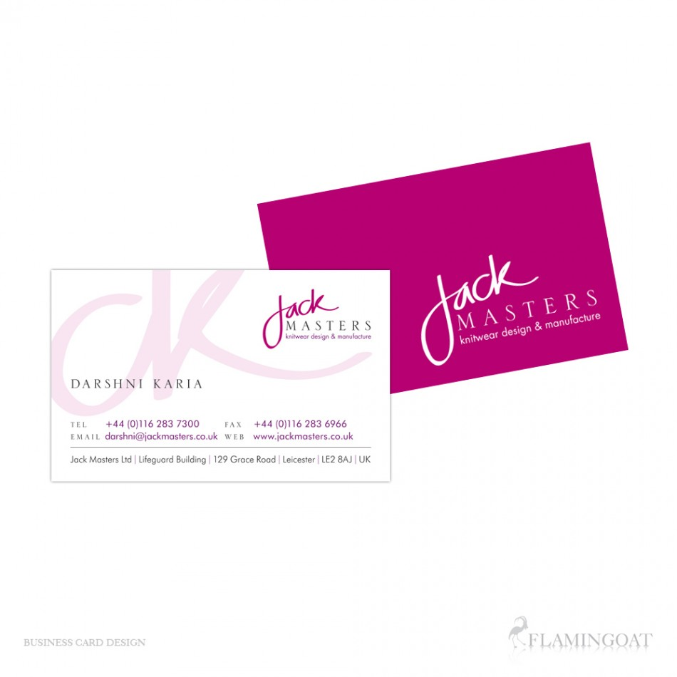 business card design: jack masters'daniel sudlow  design