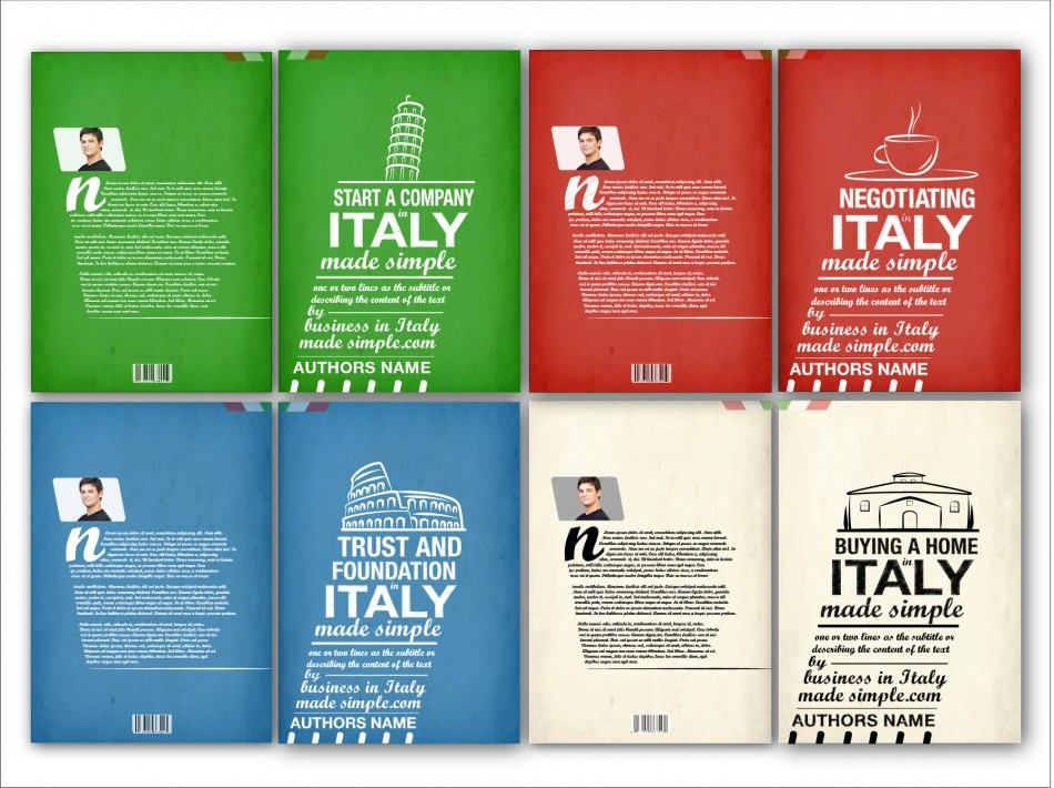 Simple Typographic Book Covers : Business in italy made simple book cover design by neil