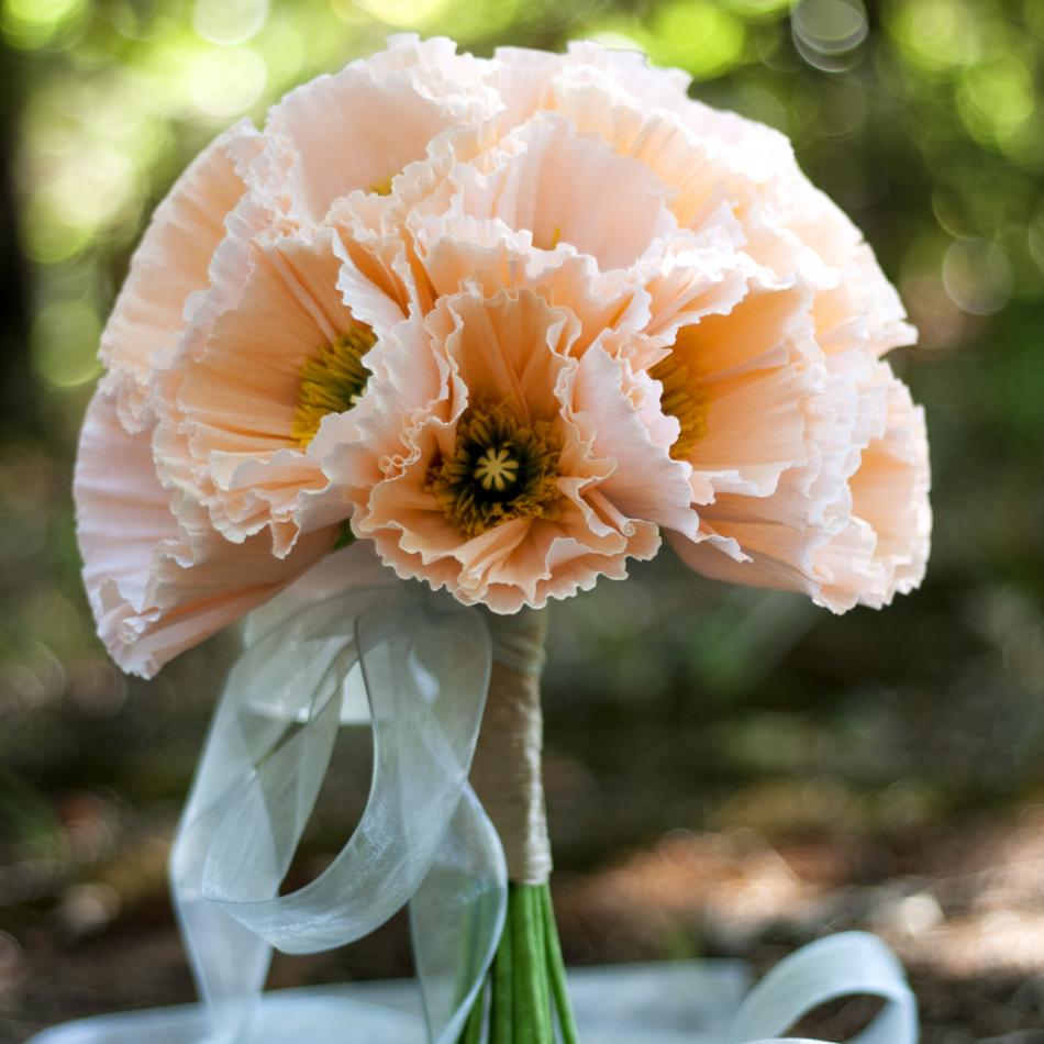 Icelandic Poppy paper flower bouquet\' by Jenny Jafek-Jones - Crafts ...